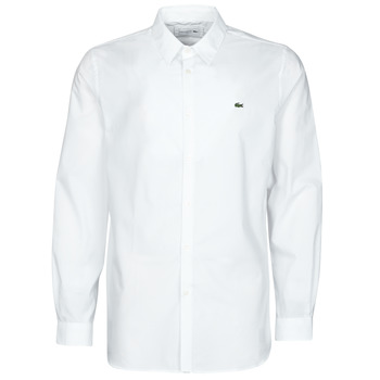 textil Herr Långärmade skjortor Lacoste PITTA Vit