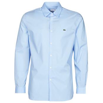 textil Herr Långärmade skjortor Lacoste PITTA Blå