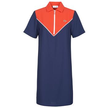 textil Dam Korta klänningar Lacoste FRITTI Röd / Blå