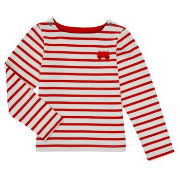 textil Flickor Långärmade T-shirts Petit Bateau MAHALIA Flerfärgad