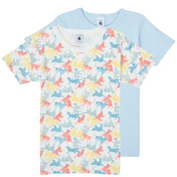 textil Pojkar T-shirts Petit Bateau MANUR Flerfärgad