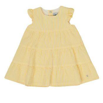 textil Flickor Korta klänningar Petit Bateau MERINGUE Gul