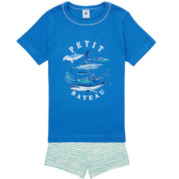textil Pojkar Pyjamas/nattlinne Petit Bateau MAYONNAISE Flerfärgad
