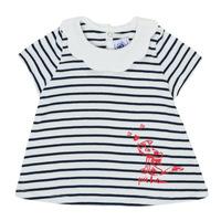 textil Flickor T-shirts Petit Bateau MELIANE Flerfärgad