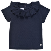 textil Flickor T-shirts Petit Bateau MELISSA Marin