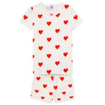 textil Flickor Pyjamas/nattlinne Petit Bateau MICOURT Flerfärgad
