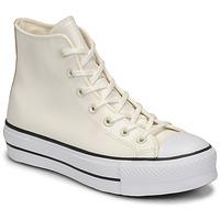 Skor Dam Höga sneakers Converse CHUCK TAYLOR ALL STAR LIFT ANODIZED METALS HI Vit / Beige