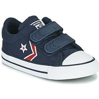 Skor Pojkar Sneakers Converse STAR PLAYER 2V TEXTILE DISTORT OX Blå / Röd