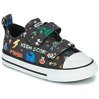 Skor Pojkar Sneakers Converse CHUCK TAYLOR ALL STAR 2V BOYS GAMER OX Svart / Flerfärgad