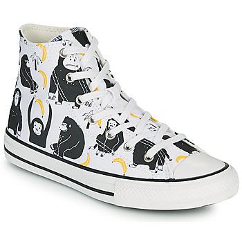 Skor Barn Höga sneakers Converse CHUCK TAYLOR ALL STAR GOING BANANAS HI Vit / Flerfärgad