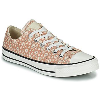 Skor Dam Sneakers Converse CHUCK TAYLOR ALL STAR CANVAS BRODERIE OX Beige