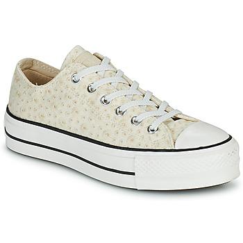 Skor Dam Sneakers Converse CHUCK TAYLOR ALL STAR LIFT CANVAS BRODERIE OX Vit