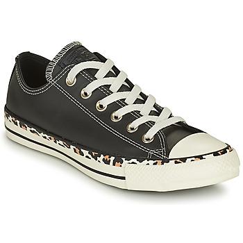 Skor Dam Sneakers Converse CHUCK TAYLOR ALL STAR ARCHIVE DETAILS OX Svart / Leopard