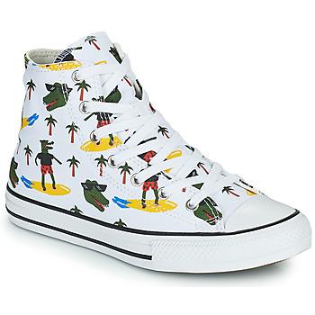Skor Pojkar Höga sneakers Converse CHUCK TAYLOR ALL STAR CROCO SURF HI Vit / Grön