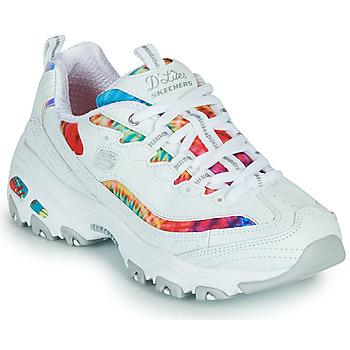 Skor Dam Sneakers Skechers D'LITES SUMMER FIESTA Vit / Flerfärgad