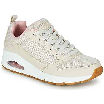 Skor Dam Sneakers Skechers UNO INSIDE MATTERS Beige / Rosa