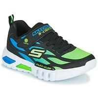 Skor Pojkar Sneakers Skechers FLEX-GLOW Svart / Blå / Grön