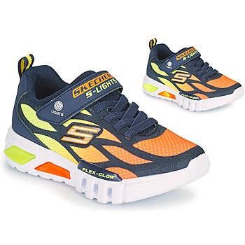 Skor Pojkar Sneakers Skechers FLEX-GLOW Marin / Orange