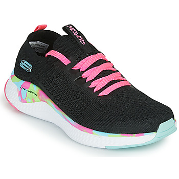 Skor Flickor Sneakers Skechers SOLAR FUSE Svart / Rosa