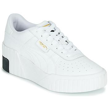 Skor Dam Sneakers Puma CALI WEDGE Vit / Svart