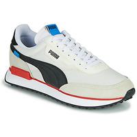 Skor Herr Sneakers Puma FUTURE RIDER PLAY ON Vit / Svart / Röd