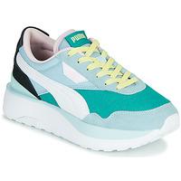 Skor Dam Sneakers Puma CRUISE RIDER SILK Blå / Vit / Svart