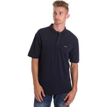 textil Herr Kortärmade pikétröjor Les Copains 9U9015 Blå