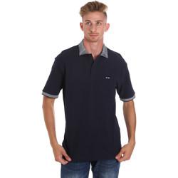 textil Herr Kortärmade pikétröjor Les Copains 9U9024 Blå