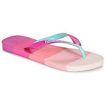Skor Dam Flip-flops Havaianas TOP LOGOMANIA MULTICOLOR Rosa