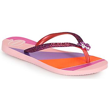 Skor Flickor Flip-flops Havaianas KIDS SLIM GLITTER II Rosa