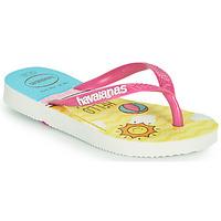 Skor Flickor Flip-flops Havaianas KIDS SLIM HELLO KITTY Vit