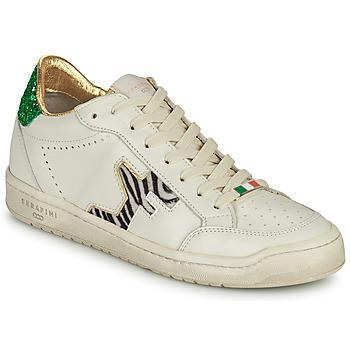 Skor Dam Sneakers Serafini SAN DIEGO Vit / Grön