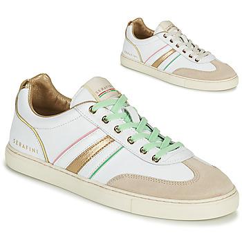 Skor Dam Sneakers Serafini COURT Vit / Guldfärgad