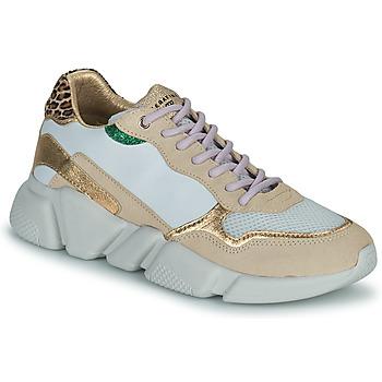 Skor Dam Sneakers Serafini OREGON Vit / Guldfärgad