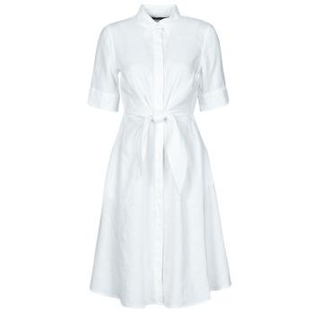 textil Dam Korta klänningar Lauren Ralph Lauren WAKANA Vit