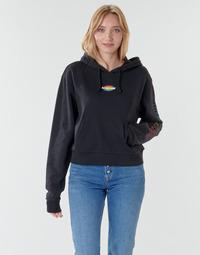 textil Dam Sweatshirts Vans WM OVAL TEEN HOODIE Svart