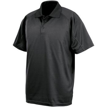 textil Kortärmade pikétröjor Spiro SR288 Svart