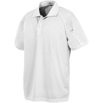 textil Kortärmade pikétröjor Spiro SR288 Vit