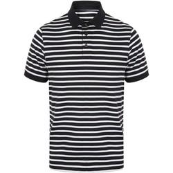 textil Herr Kortärmade pikétröjor Front Row FR230 Marinblått/vit