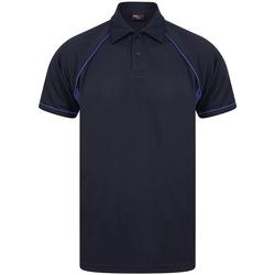 textil Herr Kortärmade pikétröjor Finden & Hales LV370 Marinblå/Royalblå