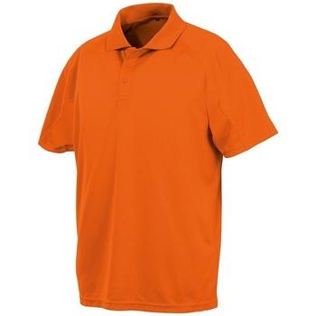 textil Kortärmade pikétröjor Spiro SR288 Flo Orange