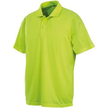 textil Kortärmade pikétröjor Spiro SR288 Flo Yellow