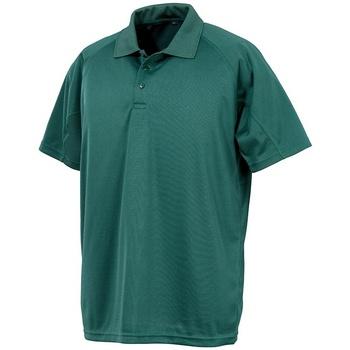 textil Kortärmade pikétröjor Spiro SR288 Flaskegrön