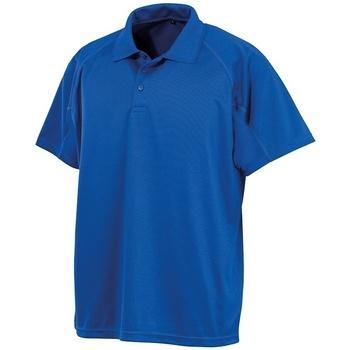 textil Kortärmade pikétröjor Spiro SR288 Kunglig blå