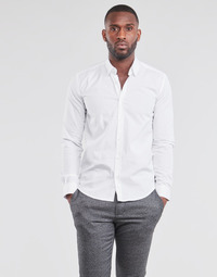 textil Herr Långärmade skjortor BOTD OMAN Vit
