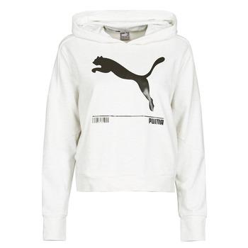 textil Dam Sweatshirts Puma NUTILITY HOODY Vit