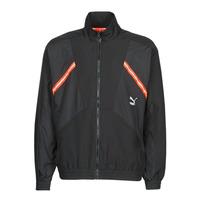 textil Herr Sweatjackets Puma WVN JACKET Svart / Röd