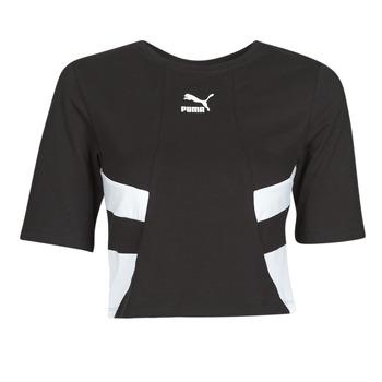 textil Dam T-shirts Puma RETRO FROPnTOP Svart