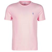 textil Herr T-shirts Polo Ralph Lauren T-SHIRT AJUSTE COL ROND EN COTON LOGO PONY PLAYER Rosa / Carmel