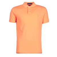 textil Herr Kortärmade pikétröjor Polo Ralph Lauren POLO AJUSTE DROIT EN COTON BASIC MESH LOGO PONY PLAYER Orange
